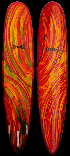 Rasta Fire Resin Swirl EPS High Performance Longboard