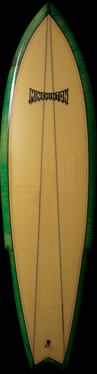 Stinger Retro Surfboard Top View